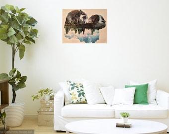 EXAMPLE, customazable double exposure canvas