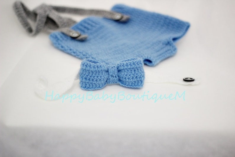 Boy photo outfit Bow tie suspenders Photo shoot Photography props newborn photo prop Cake smash outfit Baby boy diaper cover set