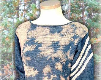 Batik Sweater - Knitting pattern in English & Swedish - PDF instant download