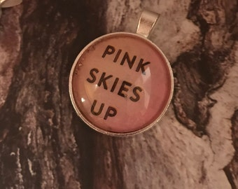 Pink Skies Up Glass Pendant