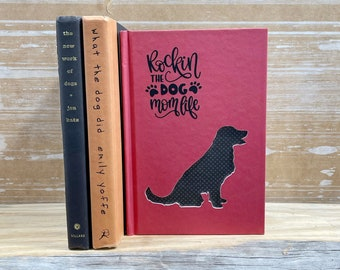 Golden Retriever Book Art, Gifts for Dog Lovers, Dog Dad, Dog Mom
