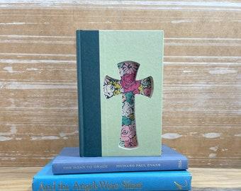 Easter Cross Book Art, Christian Art, Easter Decorations, Christian Gifts for Women