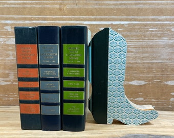 Cowboy Boot Book Art, Farm Western Decor, Repurposed  Reader's Digest Condensed Book