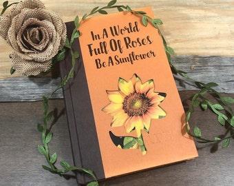Sunflower Book Art, Sunflower Gifts, Flower Art, Flower Book
