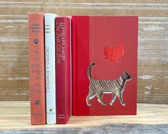 Cat Book Art, Cat Mom, Cat Dad, Pet Sympathy Gift, Cat Lover Gift