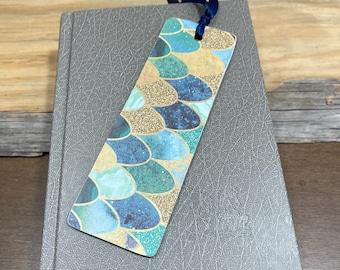 Beachy Mermaid Handmade Bookmarks, Book Covers Bookish Gifts