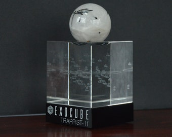 ExoCube (with glass base) & Mineral Sphere