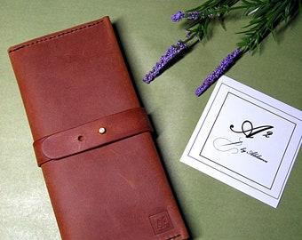 Handmade genuine leather travel wallet, purse for women, travel wallet, travel case,  laddie's wallet, passport holder, pasport wallet