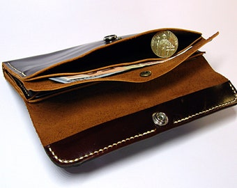 Purse for women, Handmade  leather wallet for women, Brown leather wallet, handmade wallet, leather wallet, handmade wallet, vintage wallet