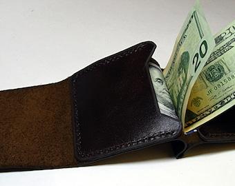 Purse for men, Handmade leather wallet men, Brown leateh wallet, Money clips, leather wallet, handmade wallet, gift for him, men's wallet