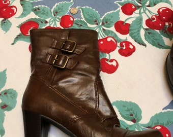 Women's Ankle Boot (Brown, Size 8)