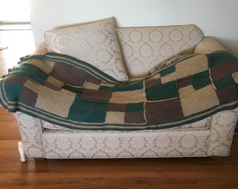 Long Crocheted Couch Afghan
