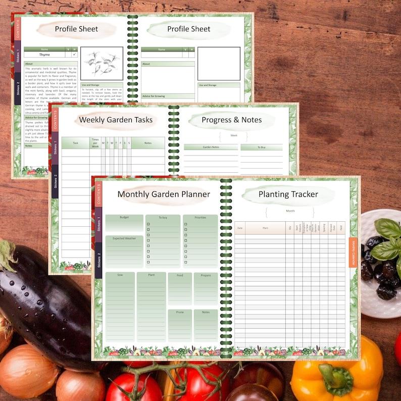Digital Garden Planner l Vegetable Garden Notebook l ipads ...