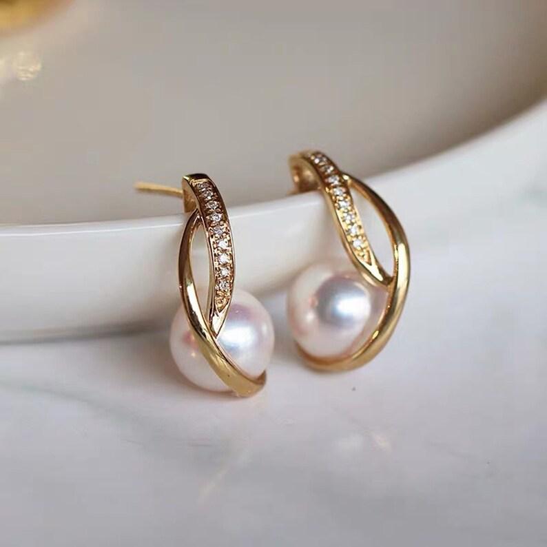 Earring accessories. Semi Finished Jewelry Geometric Earring Holder Wedding Earrings Pearl-inlaid Earrings Base 925 Silver Earring Base