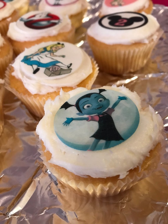 24 x 3.8cms Lilo /& Stitch Edible Cupcake Toppers