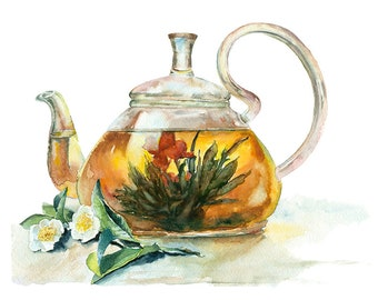 Tea Pot Original Watercolour Painting 93