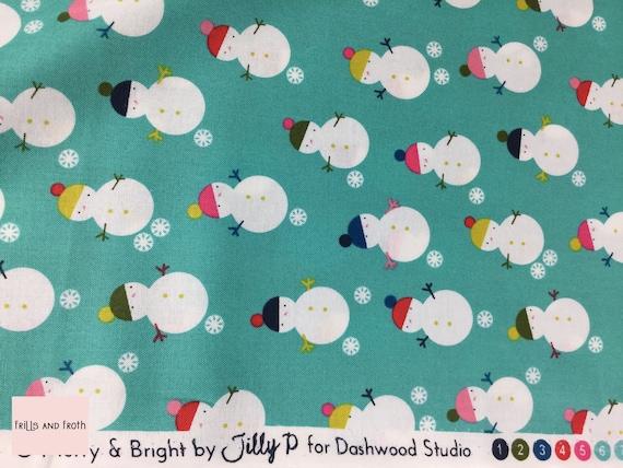 Merry and Bright Christmas fabric UK-based textile design company Dashwood Studio