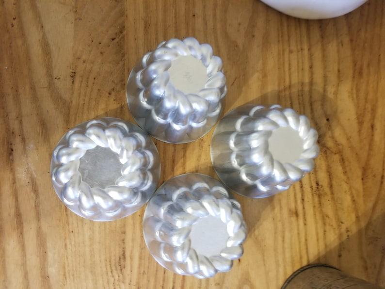 Set of 4 Vintage Aluminum Mini Baking Pans