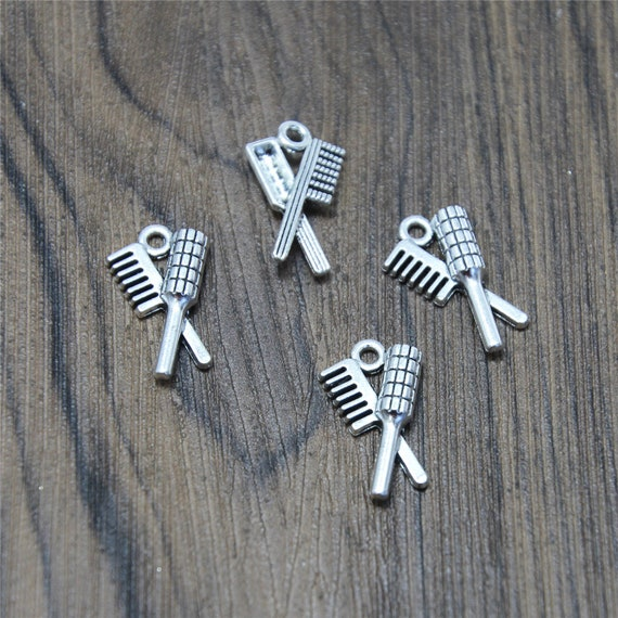 15pcs Tooth Charms Silver Tone Lovely Mini Tooth Charms Pendant 5x8x16mm