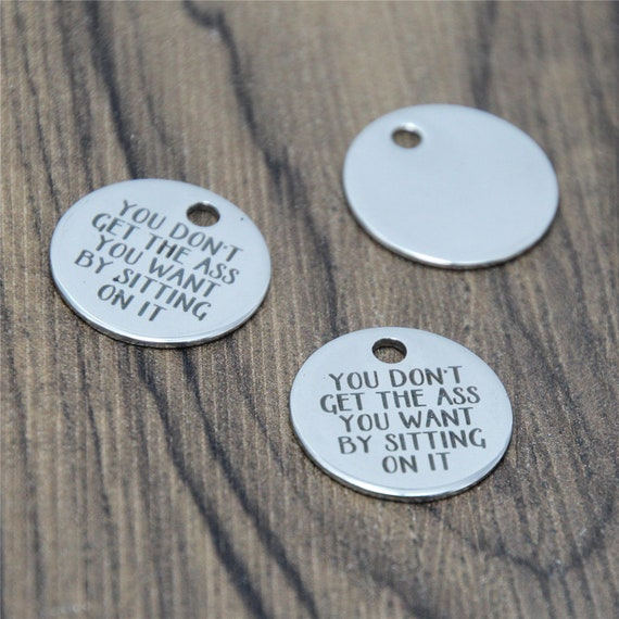 10pcs//lot Buddy charm Dad/'s Little Hunting Buddy Stainless steel pendant 20mm