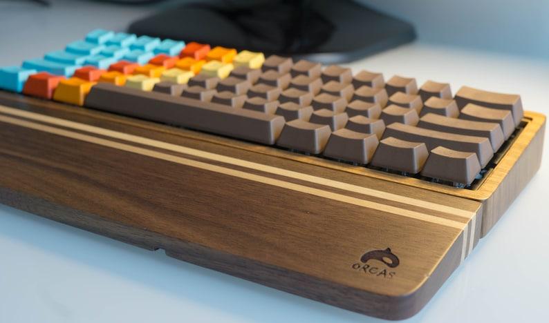 Wood Mechanical Keyboard Wrist Rest Palm Rest image 0