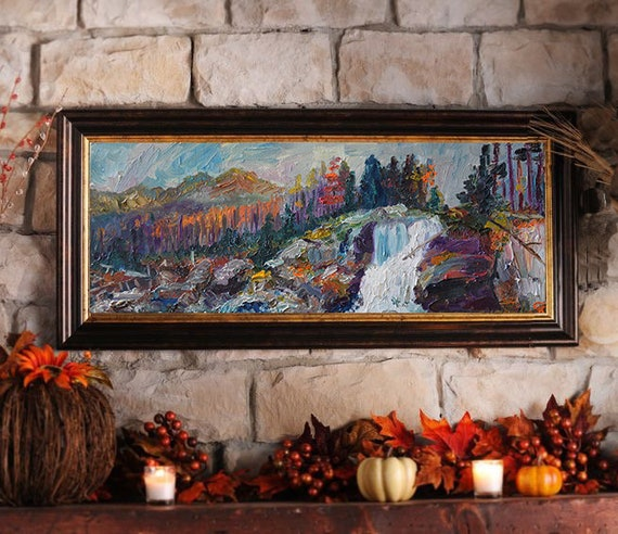 Mountain Landscape Painting Original Oil Painting On Canvas Etsy