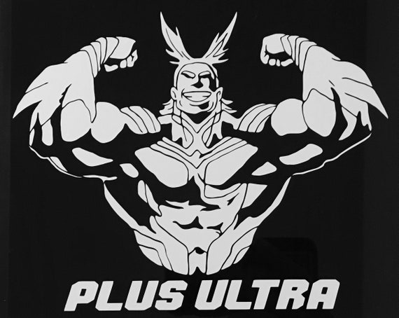 my hero academia all might plus ultra decal etsy