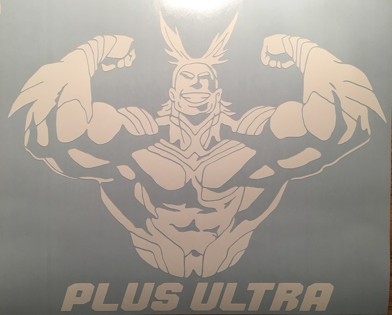 My hero academia all might plus ultra decal