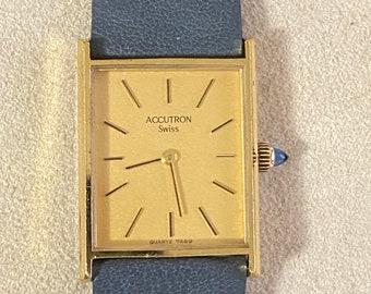 Vintage ACCUTRON 7269 Swiss P1 Slightly Worn from Estate Sale Prime Condition Bulova Accutron 6 Jewel Movement