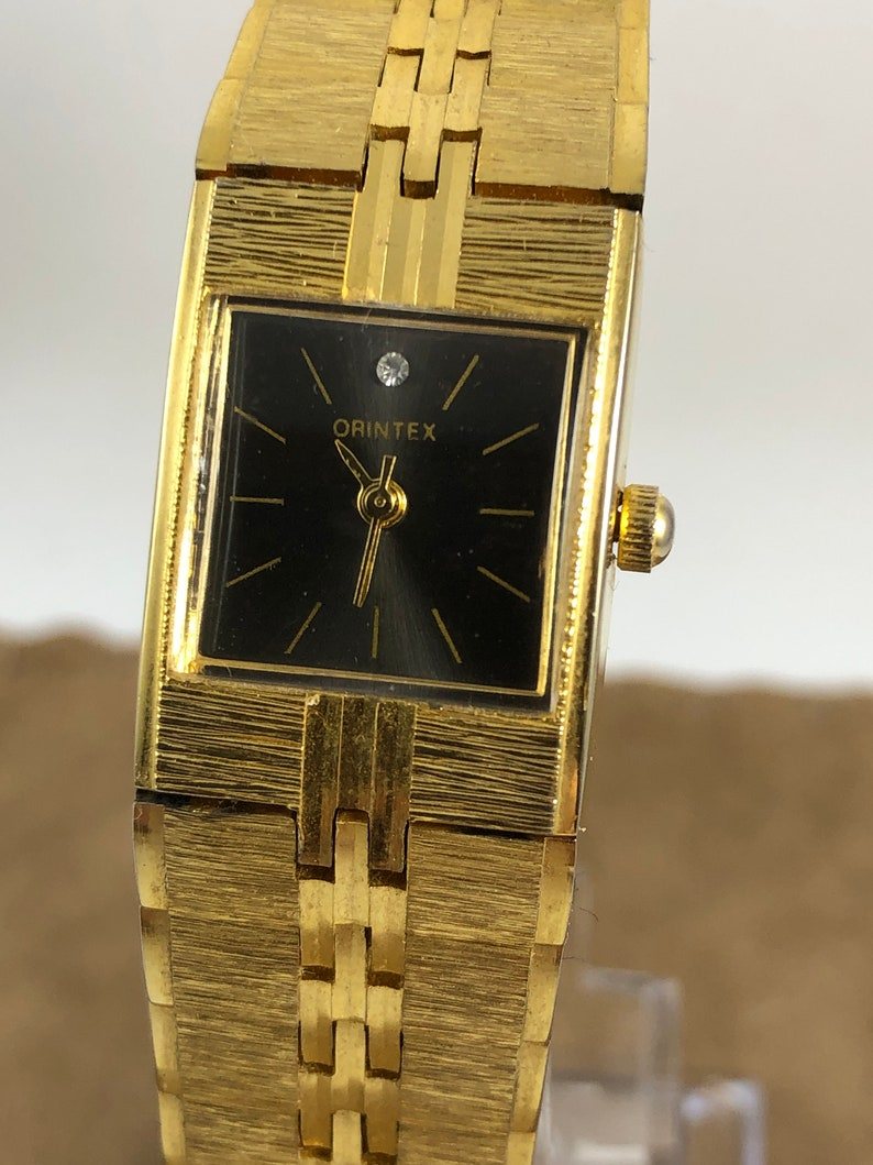 Orintex Gold Tone Vintage Watch Gold Plated Wind Up Mechanical Watch In Good Working Order