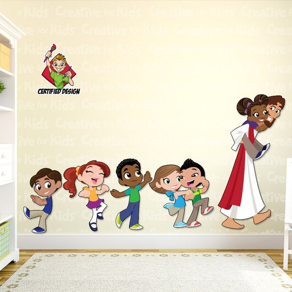 Jesus Follow Me Wall Decal Bible Story Etsy