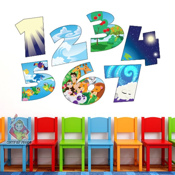 7 Days Of Creation Wall Decal Bible Story Kids Etsy