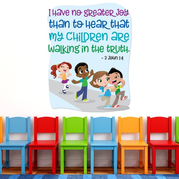 Strange Sunday School Decal Children Walking In Truth Christian Kids Decal Kids Bible Decal Jesus Wall Decal Church Nursery Decal 9166 Inzonedesignstudio Interior Chair Design Inzonedesignstudiocom