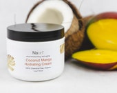 Coconut Mango Hydrating Cream, Certified Organic, Organic Mango Cream, Organic Coconut Cream, A Great Anti Aging Face and Body Moisturizer