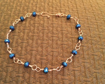 Copper wire wrapped bracelet