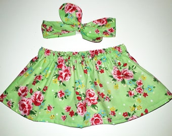 3-6 Baby skirt and headband set.