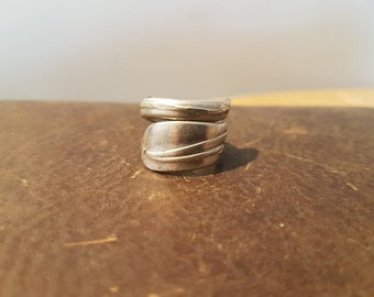 """Stainless Steel Wrapped Spoon Ring """"Rogers"""""""