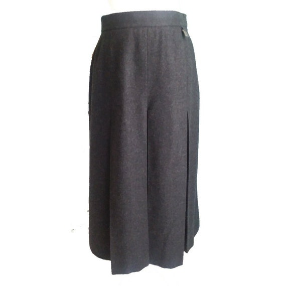 CHRISTA MODEN Austrian Grey Wool Walking Skirt 6