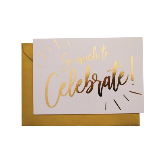 s celebrate foiled card - 570×570