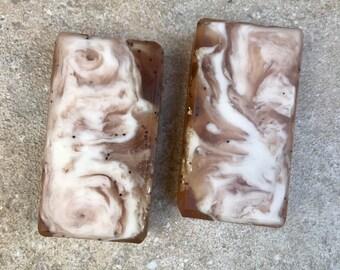 Vanilla Hazelnut with Exfoliating Poppy Seeds & Oatmeal // VEGAN, Sulfate-Free Soap Bar