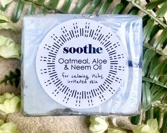 SOOTHE // Oatmeal, Aloe, and Neem Oil Soap for Dry, Irritated Skin