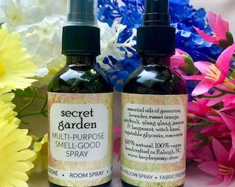 Multi-Purpose Smell Good Spray // Secret Garden // Jasmine, Geranium, Patchouli
