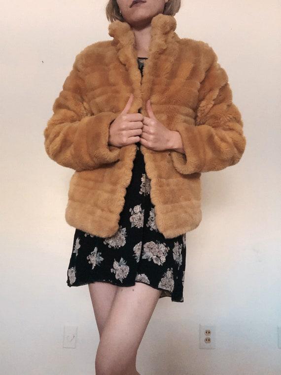 1970s Faux Fur Beige Coat