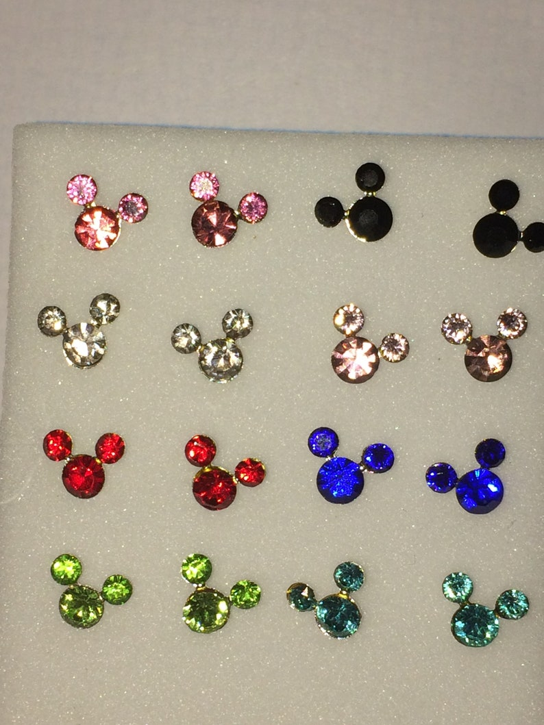 5681777cc Mickey Mouse 925 sterling silver stud earrings different | Etsy