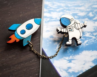 """Brooch """"Outer space """""""