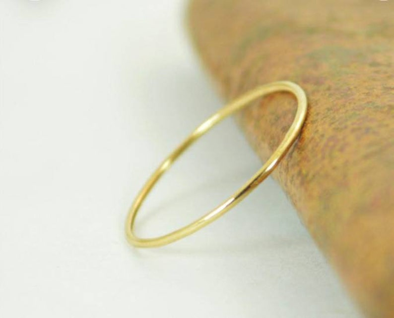24k Solid Yellow Gold Round Ring Thin 24k Gold Ring Stopper 24k Round Stacking Ring 24k Jewelry Solid Gold Ring 24k gold Band 24k gold
