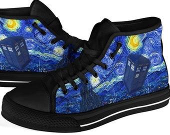 Van Gogh and The Doctor Hi Top Sneakers (REG51)