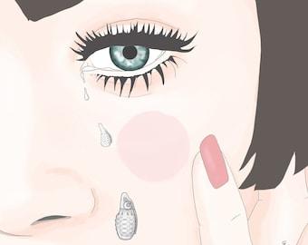 Print Cried bombs