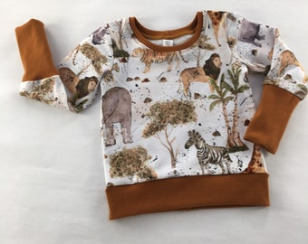 African animals sweatshirt