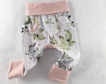 Pink Roses floral Maxaloones , grow with me pants,